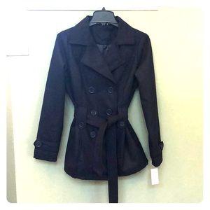 Joujou pea coat, navy blue, women's, size small